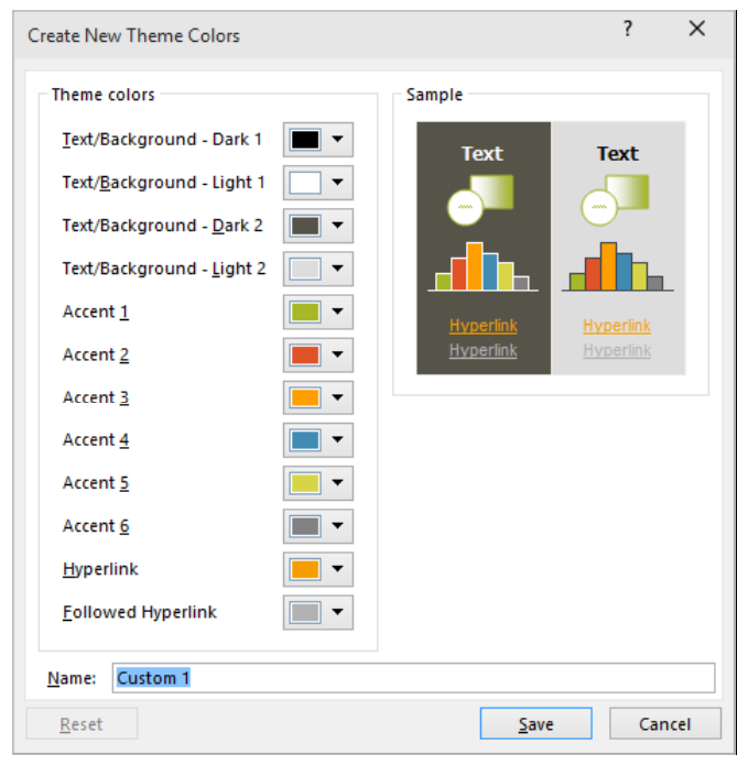 PowerPoint – Changing The Colors In Your Theme